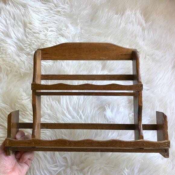 Vintage Wooden Spice Rack Knick Knack Shelf